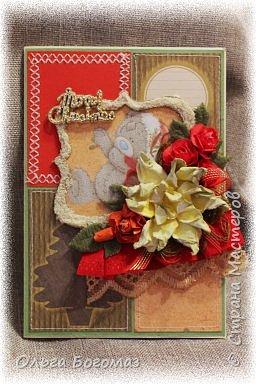 Добрый день!Вот мои новогодние открытки!Лучше поздно,чем никогда!))))Прошу прощение за цвет-фотографировала при искусственном освещении. фото 9