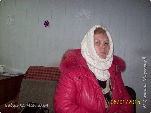 попросили вспомнить молодость- связать шарф-шапку, или как это сейчас --- снуд? фото 2