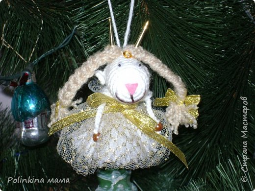 Козочки  и овечки  - елочные игрушки фото 4