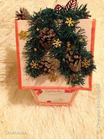 Вот такие подарочки дарила родственникам..)) Конечно же домик с рафаэлло. фото 2