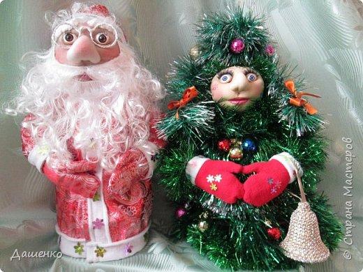 Дедушку Мороза и Снегурочку сделала на Новый год. фото 5