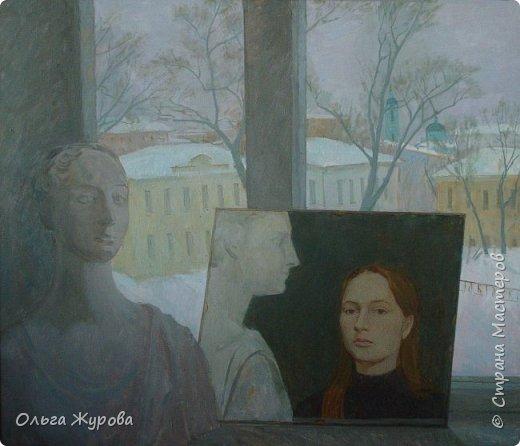 Автопортрет на фоне окна