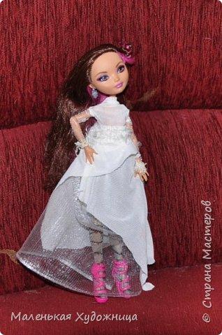 Привет! Я хочу показать наряд Белой Королевы из Алисы в стране чудес. Он состоит из кофты и юбки. фото 1