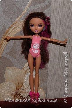 Привет! Я хочу вам показать купальник своей куколки :) Он водонепроницаемый.  Вид спереди. фото 1