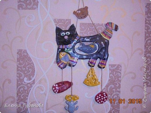 Привет стране мастеров! Решила поделиться своими работами... Это  жадный кот-мукосолька, делался в подарок маме. фото 2