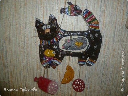 Привет стране мастеров! Решила поделиться своими работами... Это  жадный кот-мукосолька, делался в подарок маме. фото 1