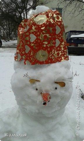 Всем привет! У нас снег и мы не удержались и слепили его... фото 1