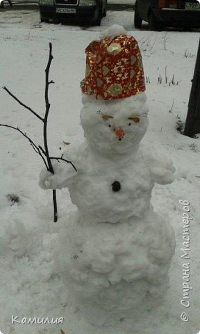 Всем привет! У нас снег и мы не удержались и слепили его... фото 2