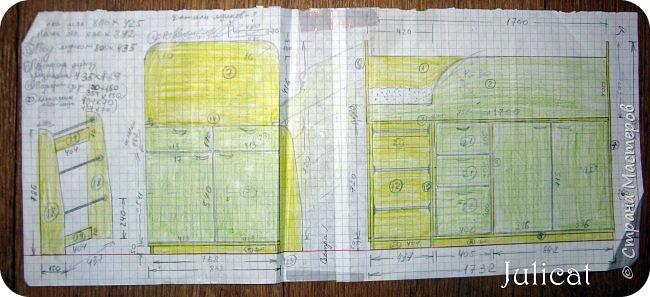 Приветствую, Вас, уважаемые гости моего блога!!! Сегодня познакомлю Вас моим проектом - мебель для младшей доченьки Катюши - кровать-чердак и письменный стол с надстройкой. История начинается еще с 2011 года - наберитесь терпения;)  В нашей квартире мы с мужем и наша младшая 6-летняя доченька размещаемся в одной комнате. Можно сказать, что мы живем в детской, поскольку в комнате, которая еще в моем детстве, всегда называлась детской, живет наша старшая дочь, которой уже 21 год.  Итак, на площади 17 кв.м мы с мужем всегда старались выделить для младшенькой свою зону. фото 6