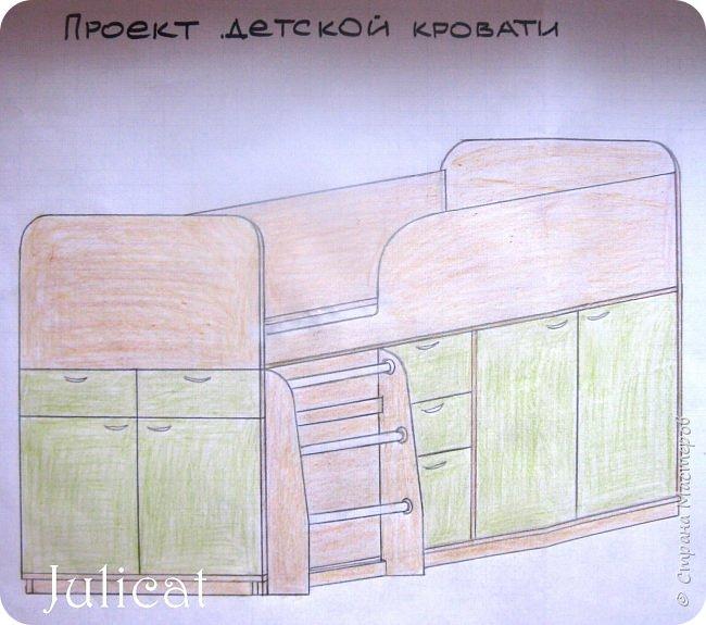Приветствую, Вас, уважаемые гости моего блога!!! Сегодня познакомлю Вас моим проектом - мебель для младшей доченьки Катюши - кровать-чердак и письменный стол с надстройкой. История начинается еще с 2011 года - наберитесь терпения;)  В нашей квартире мы с мужем и наша младшая 6-летняя доченька размещаемся в одной комнате. Можно сказать, что мы живем в детской, поскольку в комнате, которая еще в моем детстве, всегда называлась детской, живет наша старшая дочь, которой уже 21 год.  Итак, на площади 17 кв.м мы с мужем всегда старались выделить для младшенькой свою зону. фото 5