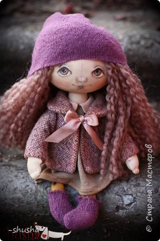 текстильная коллекционная кукла  Лея фото 1