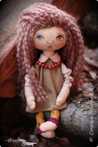 текстильная коллекционная кукла  Лея фото 2