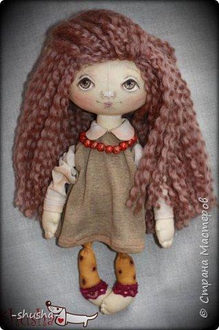 текстильная коллекционная кукла  Лея фото 3