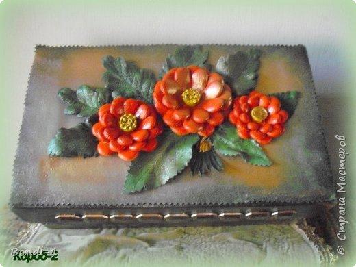 Декор предметов Поделка изделие Коробчонка для украшений Картон Кожа фото 2