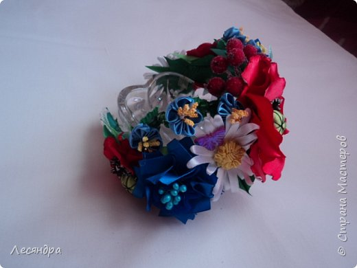 Создала украинский веночек по мотивам мастер-класса Алины Балобан. Спасибо ей огромное. фото 3