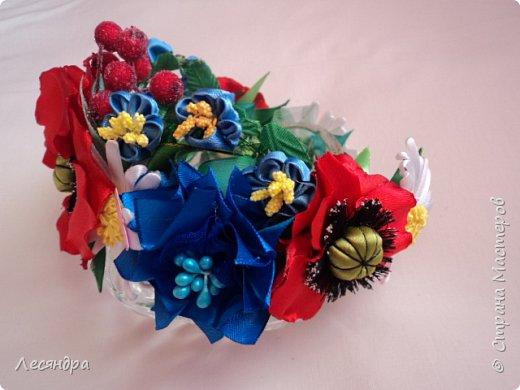 Создала украинский веночек по мотивам мастер-класса Алины Балобан. Спасибо ей огромное. фото 1