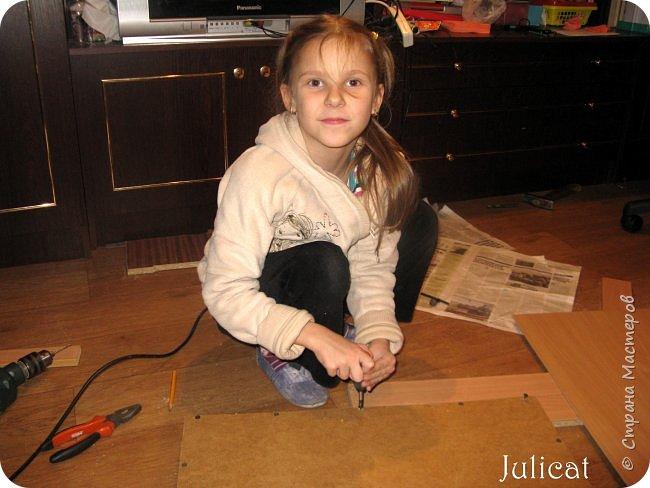 Приветствую, Вас, уважаемые гости моего блога!!! Сегодня познакомлю Вас моим проектом - мебель для младшей доченьки Катюши - кровать-чердак и письменный стол с надстройкой. История начинается еще с 2011 года - наберитесь терпения;)  В нашей квартире мы с мужем и наша младшая 6-летняя доченька размещаемся в одной комнате. Можно сказать, что мы живем в детской, поскольку в комнате, которая еще в моем детстве, всегда называлась детской, живет наша старшая дочь, которой уже 21 год.  Итак, на площади 17 кв.м мы с мужем всегда старались выделить для младшенькой свою зону. фото 26