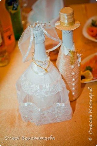 """Это шампанское я делала на свою собственную свадьбу)) Костюм жениха подобран под цвет """"оригинала"""" :D фото 1"""