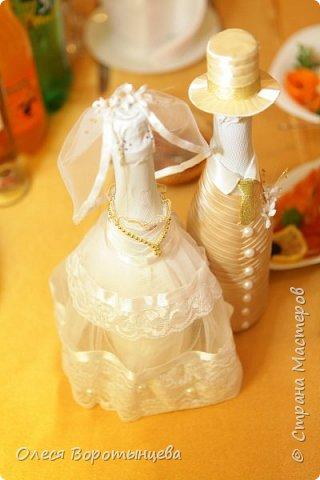"""Это шампанское я делала на свою собственную свадьбу)) Костюм жениха подобран под цвет """"оригинала"""" :D фото 2"""