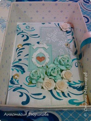Всем привет! Представляю на Ваш суд вот такую чудо-коробочку! Это первая моя работа в свадебной тематике) Коробочка с окошечком, завязывается на ленточки)  фото 5