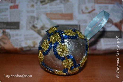 В этом году решила сделать подарки своими руками, вот такие шарики я подарила бабушке на Новый год фото 7