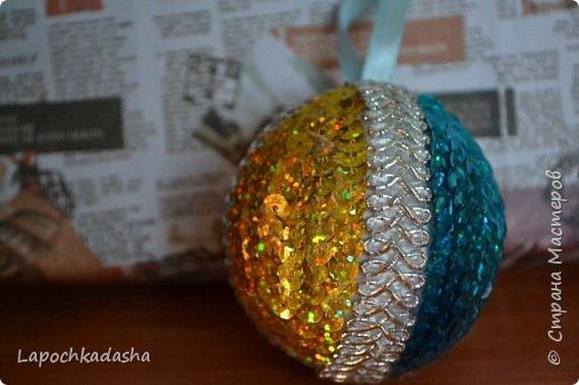 В этом году решила сделать подарки своими руками, вот такие шарики я подарила бабушке на Новый год фото 5