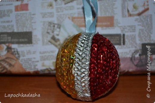 В этом году решила сделать подарки своими руками, вот такие шарики я подарила бабушке на Новый год фото 6