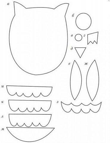 Размер совушки 5-6см. Материал - фоамиран. фото 4