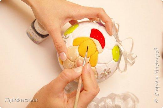 Всех, всех, всех С НОВЫМ 2015 ГОДОМ! Мы попробуем с Вами сделать новогодний шар на елку, используя технику «кинусайга». фото 12