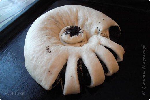"""Вот он с пылу с жару, только что из духовки!  Я пекла его на Рождество. Рецепт такого пирога, его ещё называют Бабушкиной салфеткой, я увидела на просторах интернета , в журнале """"1000 советов"""", в нашей СМ. Хочу похвастаться своим. фото 4"""