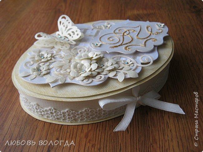 Заказали конвертик для денежки в подарок на свадьбу, а я решила сделать коробочку))) фото 1