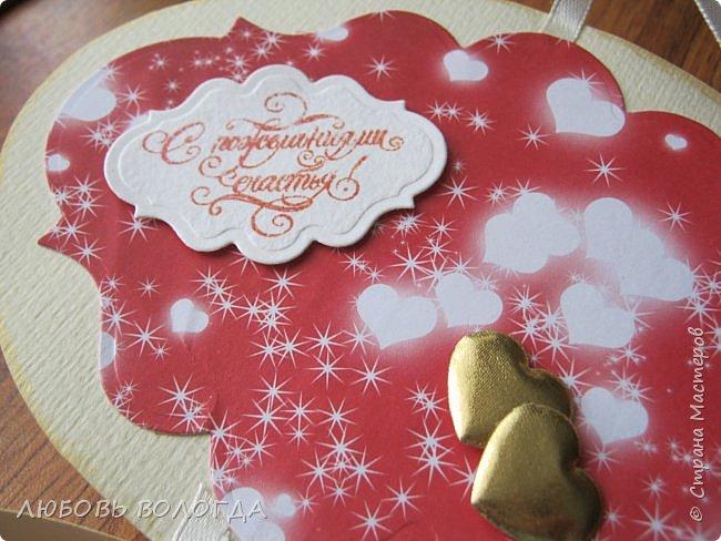 Заказали конвертик для денежки в подарок на свадьбу, а я решила сделать коробочку))) фото 6