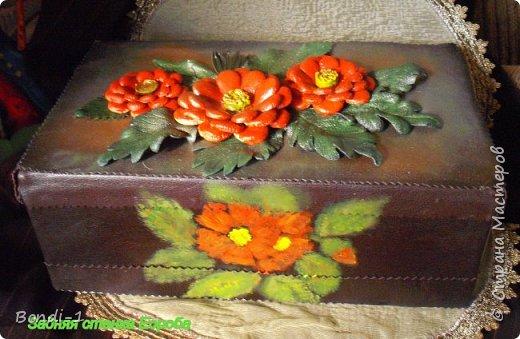 Декор предметов Поделка изделие Коробчонка для украшений Картон Кожа фото 5