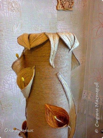 Мастер-класс Поделка изделие Моделирование конструирование Шпагатная вазочка Мк Кофе Мешковина Проволока Шпагат фото 22