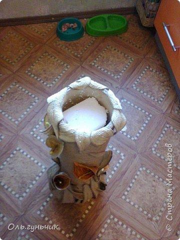 Мастер-класс Поделка изделие Моделирование конструирование Шпагатная вазочка Мк Кофе Мешковина Проволока Шпагат фото 29