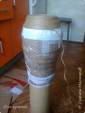 Мастер-класс Поделка изделие Моделирование конструирование Шпагатная вазочка Мк Кофе Мешковина Проволока Шпагат фото 5