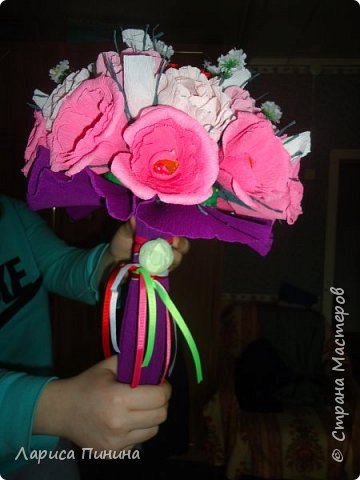 Букет роз племяшке на день рождения. фото 2