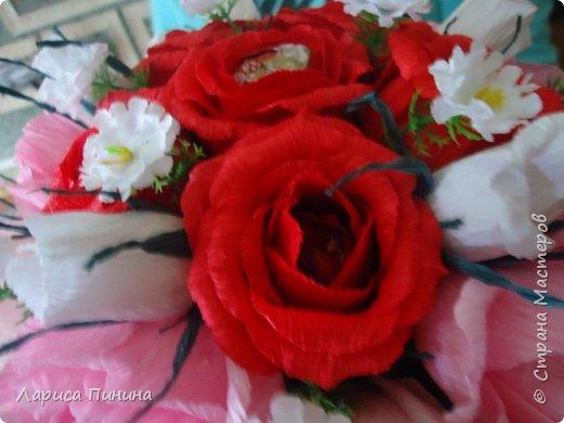 Букет роз племяшке на день рождения. фото 6