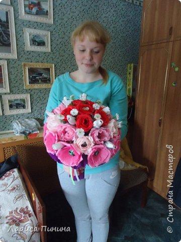 Букет роз племяшке на день рождения. фото 7