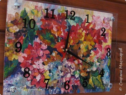 """Часы""""Цветы"""""""