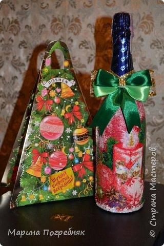 Здравствуй дорогие Жители СМ!!! Хочу выставить на Ваш суд мои первые декупажные работы, а именно декупаж на бутылках шампанского. Простите за опоздание, Новый год ведь уже давно прошел...  Моя новогодняя бутылочка в украинском стиле))) фото 5