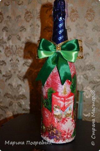 Здравствуй дорогие Жители СМ!!! Хочу выставить на Ваш суд мои первые декупажные работы, а именно декупаж на бутылках шампанского. Простите за опоздание, Новый год ведь уже давно прошел...  Моя новогодняя бутылочка в украинском стиле))) фото 4