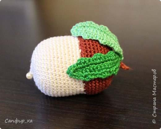 Игрушка Вязание крючком Желудь