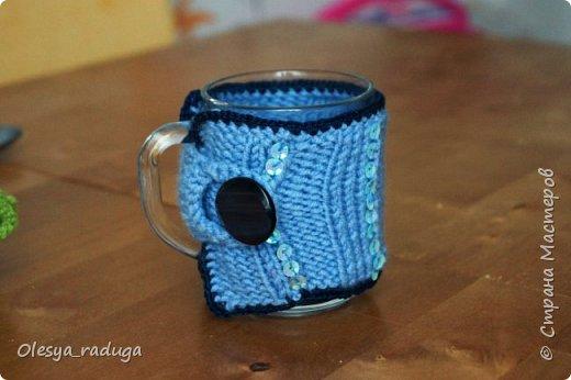 Однажды заказали мне связать свитерочки на кружки...Время шло...свитерочки вязались... фото 11