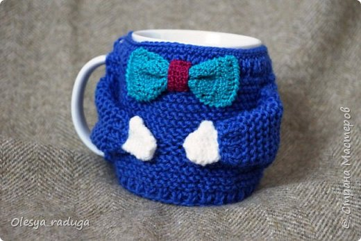 Однажды заказали мне связать свитерочки на кружки...Время шло...свитерочки вязались... фото 5