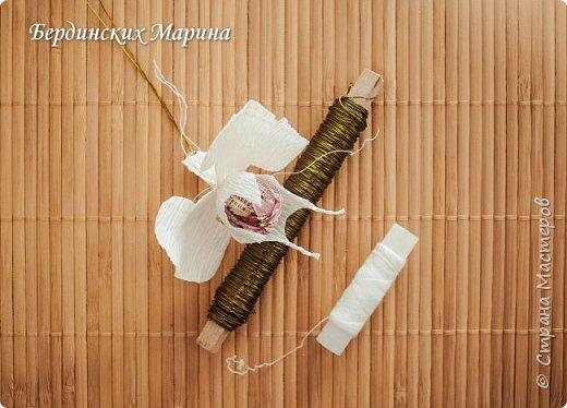 Мастер-класс по созданию прекрасной орхидеи с конфетами. фото 8