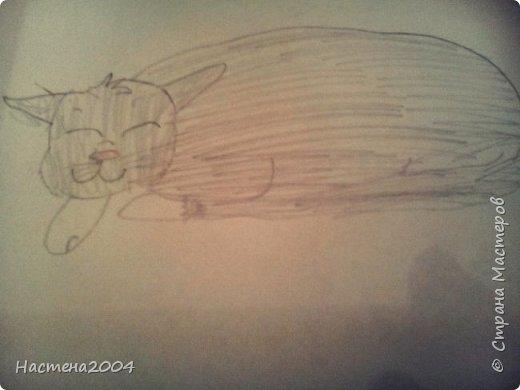 """Коты -воители. Бич и Костяк: """"А у Речного племени нет таких штучек как у нас..."""" Все рисунки выполнены фломастерами и карандашами. фото 5"""