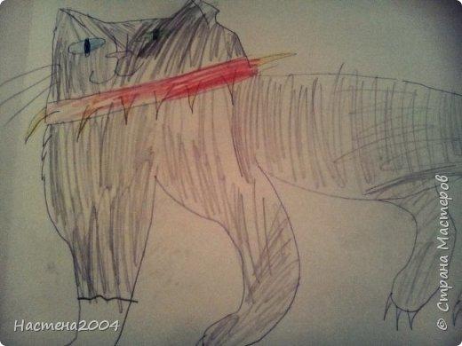 """Коты -воители. Бич и Костяк: """"А у Речного племени нет таких штучек как у нас..."""" Все рисунки выполнены фломастерами и карандашами. фото 6"""