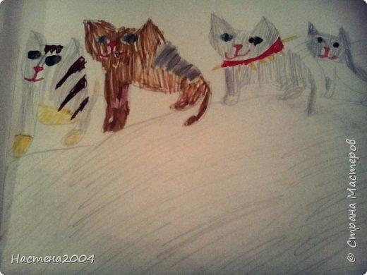 """Коты -воители. Бич и Костяк: """"А у Речного племени нет таких штучек как у нас..."""" Все рисунки выполнены фломастерами и карандашами. фото 7"""