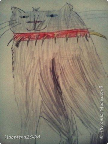 """Коты -воители. Бич и Костяк: """"А у Речного племени нет таких штучек как у нас..."""" Все рисунки выполнены фломастерами и карандашами. фото 10"""